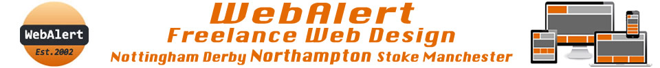 Latest Freelance Web Design News from WebAlert in Northampton